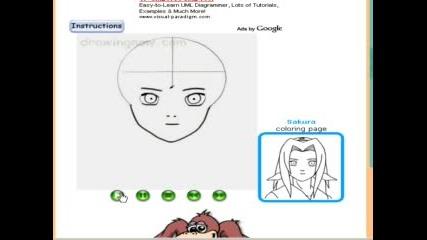 как да нарисуеаме sakura