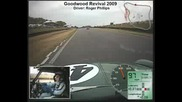 Goodwood Revival 2009 classic mini in - car race video - Roger Phillips driving (2/3)