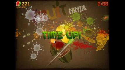Fruit Ninja: Arcade Mode My gameplay