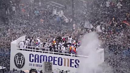 Spain: Real Madrid team celebrates 11th UEFA Champions League title