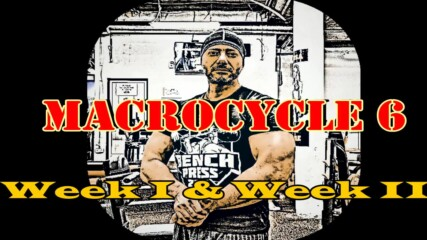 2020.10.26 - Macrocycle 6 - Week 1 and Week 2 (from 10) - Weekly Overview