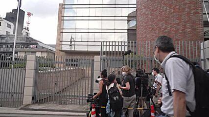 Japan: Media wait outside Polish embassy as Belarusian sprinter is offered asylum