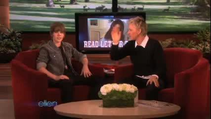 Justin Bieber Usher Dancing @ The Ellen Show 11 17 2009