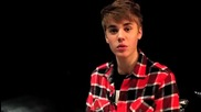 Justin Bieber On Twitvid In Mexico