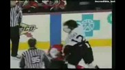 Хокеисти се отрепват от бой!