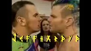 Matt amp Jeff Hardy with Lita fight backstage