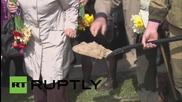В Естония погребаха останките на съветски войници с военни почести