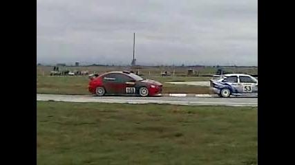 Константин Маршавелов Mitsubishi Evo x vs ford Писта Дракон 2009