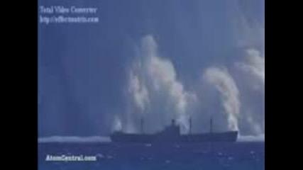 вижте взрив на бомба във океана