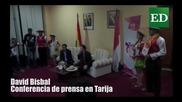 David Bisbal saluda a Bolivia antes de su concierto