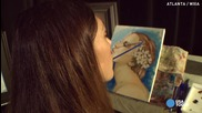 Парализирана художничка рисува шедьоври