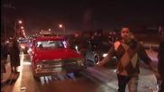 Гонка по улицата с две нитро коли Street Racing 1000hp Nitrous C10 vs 700hp Mustang