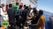 Italy: 323 migrants found floating in rubber dinghy brought to Sicily
