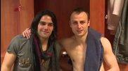 20.04 Интервю със Димитър Бербатов след края на мача с Ница