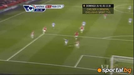 Арсенал - Манчестър Сити 0-2 ( Англия, Висша лига (13-01-2013)