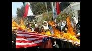 Горящи Американско - Чифутски Знамена