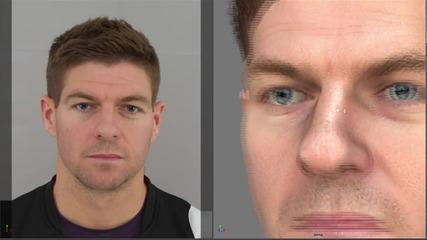 Fifa 14 - 3 D лица на играчите на Ливърпул
