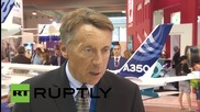 Russia: Airbus unveils A-350-900 at MAKS, vows to keep investing in Russia
