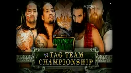 The Usos vs The Wyatt Family ( Tag Team Championship Match ) - Wwe Money In The Bank 2014