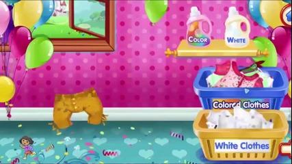 Развивающие мультики для детей, стираем одежду