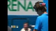 Federer Vs Santoro - Aus Open 2008 - Pt 2