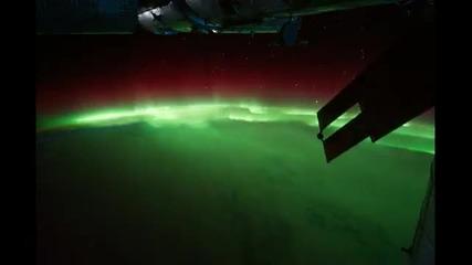 Полярното Сияние Видяно От Космоса - Aurora Borealis