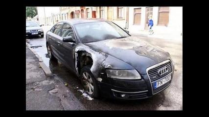 Ауди А6 Ударено От Мълния В Латвия