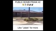 Луд арабин хвърля бомби по хората. (prank)