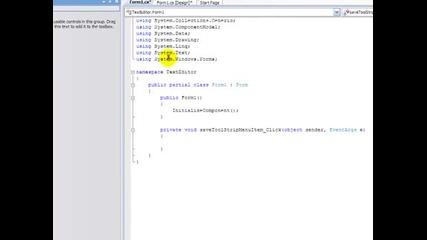 Visual C 2008 Texteditor