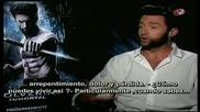 Супер звездата Хю Джакман дава интервю за филма си Върколакът (2013)