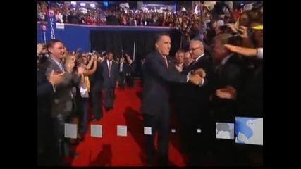 Мит Ромни обеща да възстанови САЩ и прие официално кандидатурата за президент