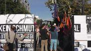 Germany: Demonstrators gather to protest EU-Turkey deal in Berlin