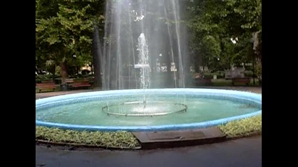 фонтана в морската градина на Бургас