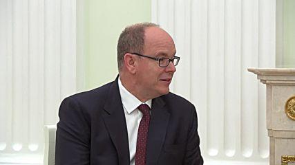 Russia: Putin and Prince Albert II of Monaco hail developing bilateral relations