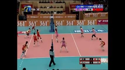 Как играят волейбол в Китай