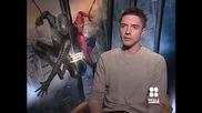 Звездата Тофър Грейс дава интервю за филма си Спайдър - Мен 3 (2007)
