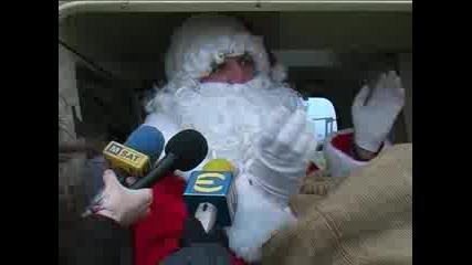 Дядо Коледа Кацна В Пловдив
