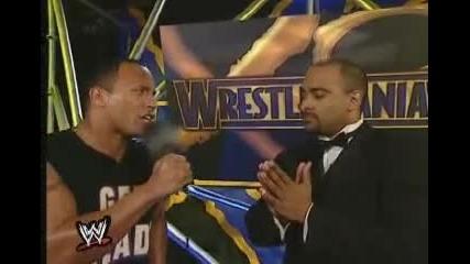 Скалата се гаври с Тренера - The Rock is making fun of Coachman Wrestlemania X8
