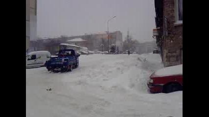 Почистените пътища във Варна в големия сняг! 19.01.2010