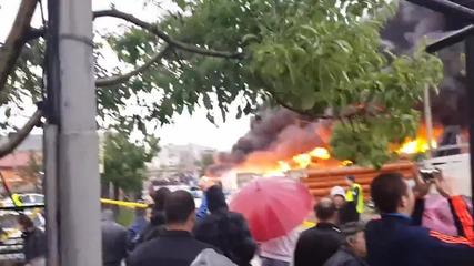 Адски пожар лумна във Враца към 18.30 часа 1.5.2014