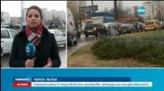 Огромни задръствания в София заради дъжда и черния петък