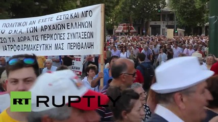 Greece: 10,000 union members and pensioners rally against austerity