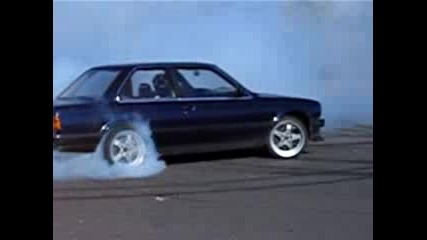 Bmw E30 Twin Turbo Burnout