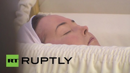 Russia: Mourners pay their last respects at pop-singer Zhanna Friske's funeral