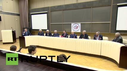 Russia: Soviet flag raised in Berlin to be taken aboard ISS