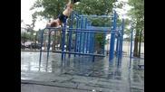 park workout in da rain