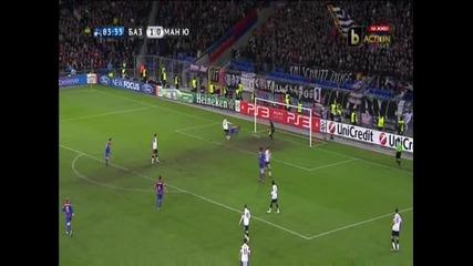Базел - Манчестър Юнайтед 2-ри гол за Базел Александър Фрай