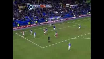 Everton 1 - 4 Arsenal Highlights