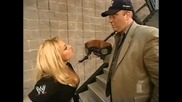 Trish Stratus and Paul Heyman Backstage