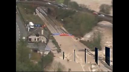 Мащабни наводнения заплашват Великобритания